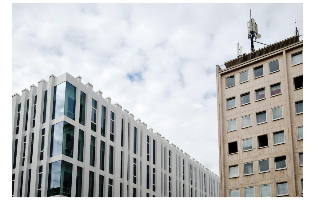 Ludwigshafen: Rathaus und neues TWL-Gebäude